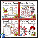 Telling Time to the Nearest Hour and Half Hour with Ladybugs BUNDLE