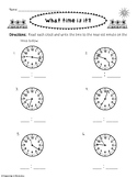 Telling Time to the Nearest Minute 3.MD.1