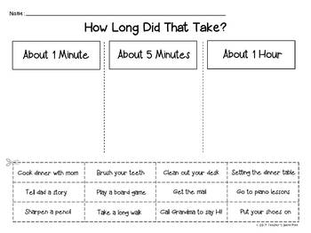 Telling Time to the Nearest Minute 32 Task Cards & 8 Activity Pages