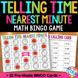Telling Time to the Minute Activity: Telling Time Bingo Game (3.MD.1)