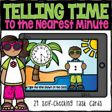 Telling Time to the Nearest Minute Boom Cards | Distance Learning