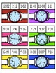 Telling Time to the Nearest Minute Clip Cards