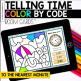 Telling Time to the Nearest Minute Digital Coloring BOOM Cards™