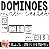 Telling Time to the Nearest Minute - Dominoes Math Game