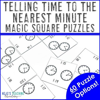 Telling Time to the Nearest Minute Math Center Game