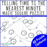 Telling Time to the Nearest Minute Math Center Game Activity