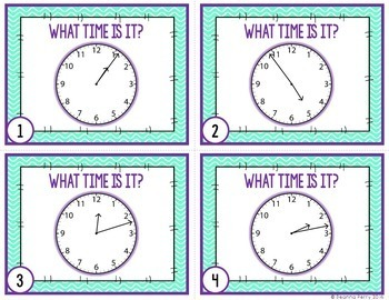 Telling Time to the Nearest Minute Task Cards
