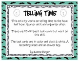 Telling Time to the Quarter, Half, Hour