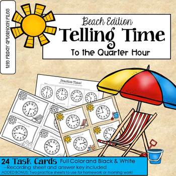 Telling Time to the Quarter Hour: Beach Edition