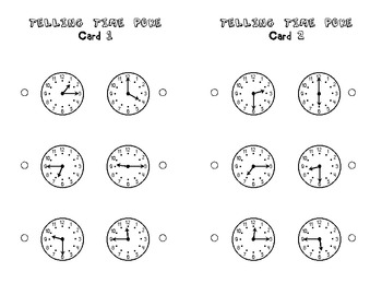 Telling Time to the Quarter-Hour Poke Game