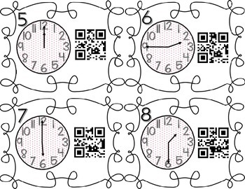 Telling Time to the Quarter Hour QR Code Scavenger Hunt