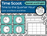 Telling Time to the Quarter Hour Scoot Activity - Spanish