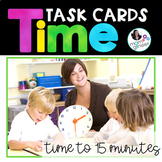 Telling Time to the Quarter Hour Task Cards (Optional QR C
