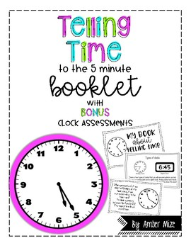 Telling Time to the five minute booklet