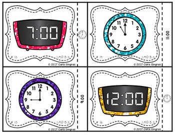 Telling Time to the hour {1st grade} Math Task Cards
