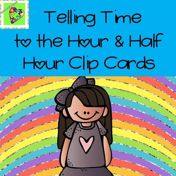 Telling Time to the hour and half-hour task cards