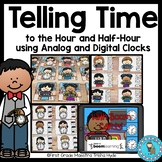 Telling Time to the hour and half-hour with Boom Cards℠
