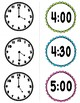Telling Time to the hour, half hour flashcards