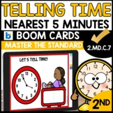 Telling Time to the nearest five minutes using Boom Cards 2.MD.C.7