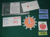 Telling Time w/analog & digital clocks-5 minute intervals-center-file game