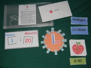 Telling Time w/analog & digital clocks-5 minute intervals-