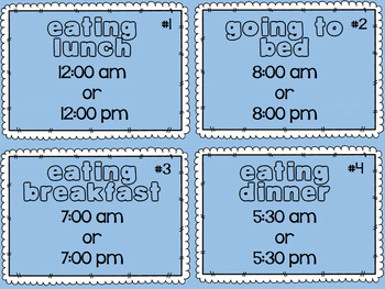 Telling Time with AM or PM