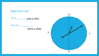 Telling Time with AR verbs PowerPoint