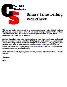 Telling Time with Binary Code