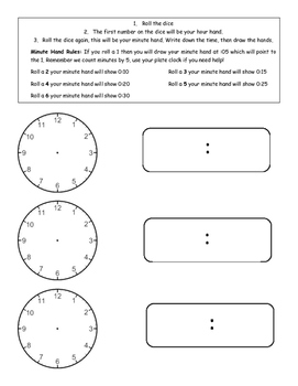 Telling Time with Dice