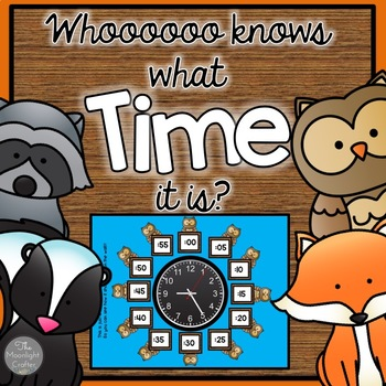 """Woodland Themed """"Clock Critters"""" Labels and Centers"""