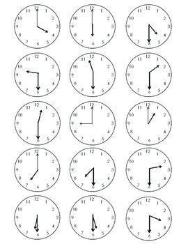 Telling Time with Watches Scavenger Hunt
