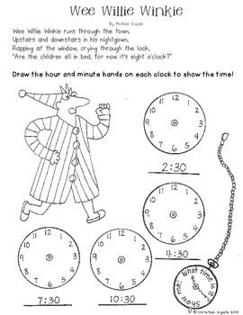 Telling Time with Wee Willie Winkie Poetry