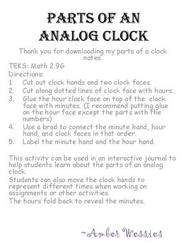 Telling Time with an Analog Clock