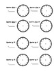 Telling Time worksheets - o'clock, half past, quarter to,