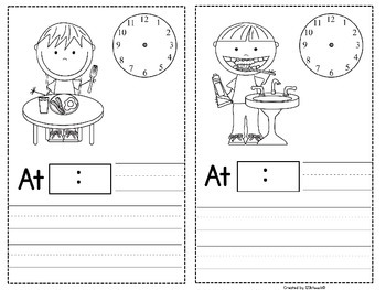 Telling Time~A Busy Day Around The Clock~Mini Booklet
