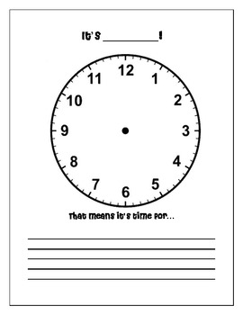 Telling Time/Clock Activity