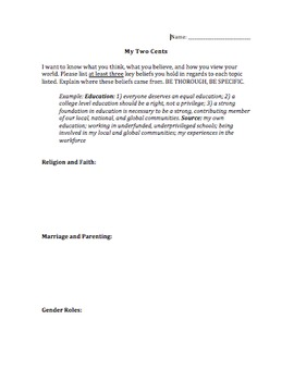 'Telling Your Truths' Expository Essay and Pre-Writing Activity