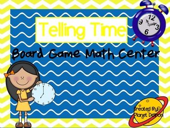 Telling analog time board game math center