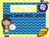Telling analog time board game math center