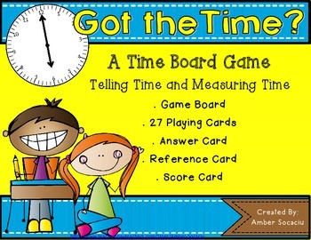 Telling and Measuring Time Board Game
