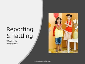 Telling and Tattling: What the difference?