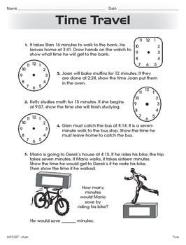 Telling and Writing Time (CCSS 3.MD.A.1)