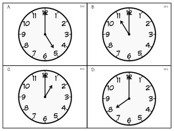 Telling and Writing Time to the Hour - First Grade enVision Math