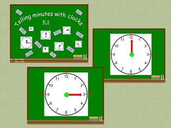 Free Clock - Telling minutes with clock