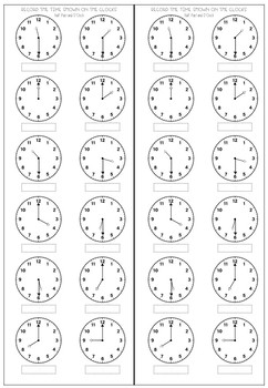 Telling the Time Booklet