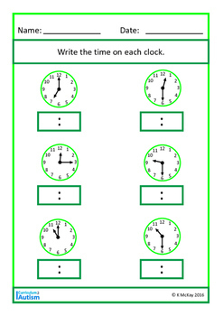 Telling the Time BUNDLE, Autism, Special Education, Life Skills