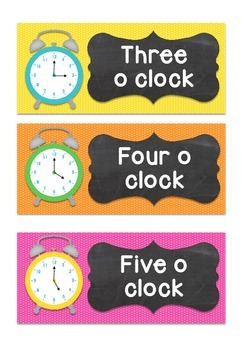 Telling the Time Clock Flashcards