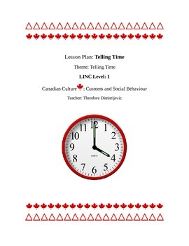 Telling the Time Linc/ESL Lesson Plan Packet