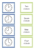 Telling Time Free! Match Activity {o'clock, half past, quarter to, quarter past}