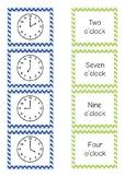 Telling Time Free! Match Activity {o'clock, half past, qua